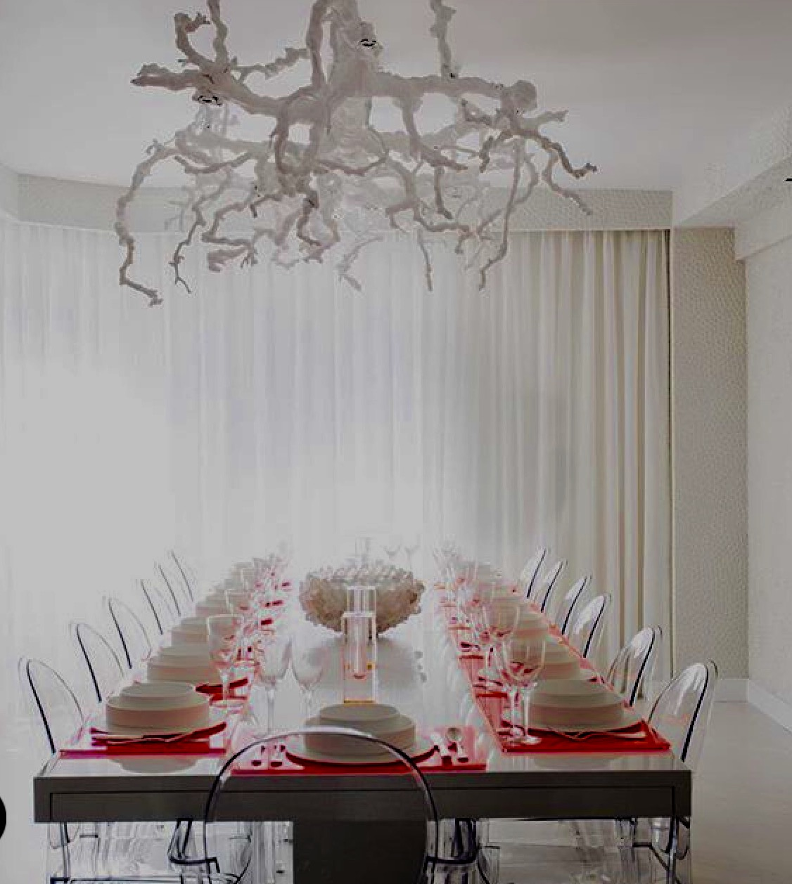 Guy clark interiors modern traditional with a twist a manhattan modern dining room with an edge a custom grape vine chandelier by the aloadofball Image collections